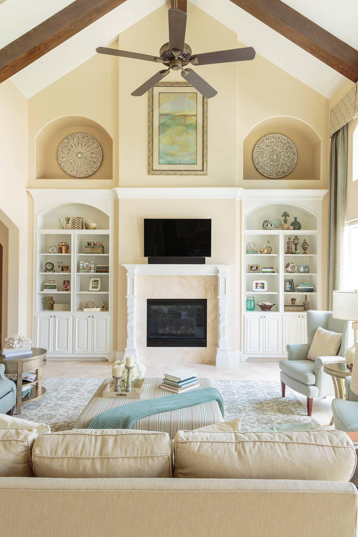 Beige And Cream Color Palette Living Room Ideas Photos Houzz