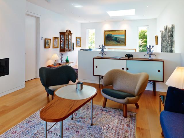 New Custom Home Vancouver BC Modern Living Room