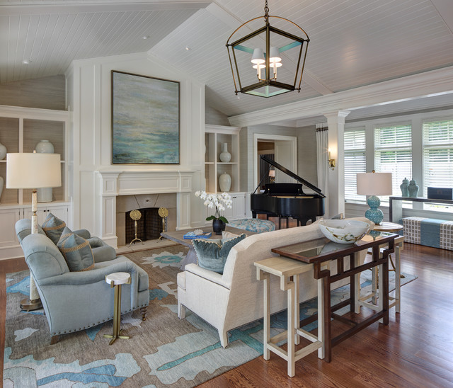 New England Comfort Transitional Living Room Cleveland By W Design Interiors