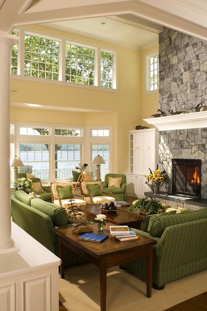 New England Island Home Beach Style Living Room Boston By Samyn D Elia Architects P A