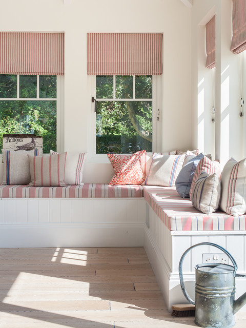 New England Style Home West Sussex Coastal Living Room