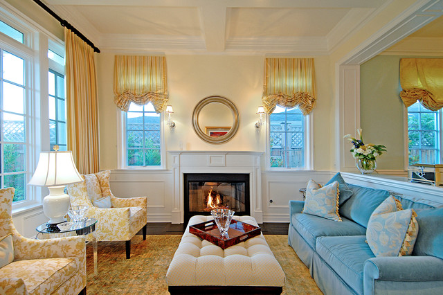 New England Traditional Traditional Living Room Los Angeles By Structure Home