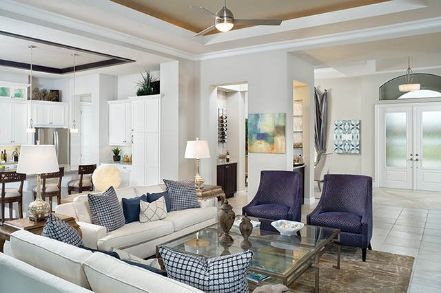 New florida model home transitional living room tampa by arthur rutenberg homes - Model home designer inspiration ...