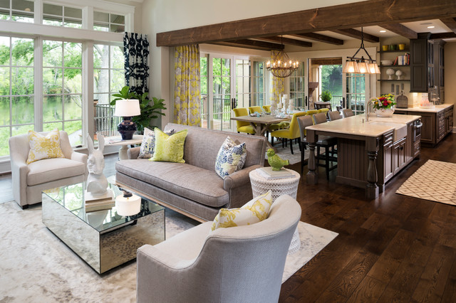 New French Country Traditional Living Room