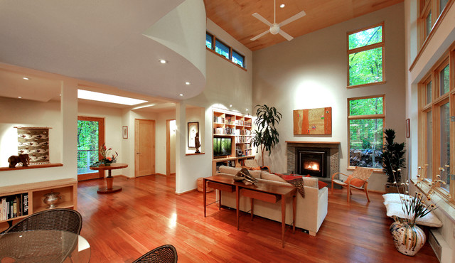 New Guest House in Great Falls, VA contemporary-living-room