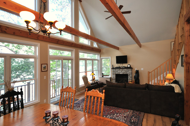 New Hampshire Lake Home traditional-living-room