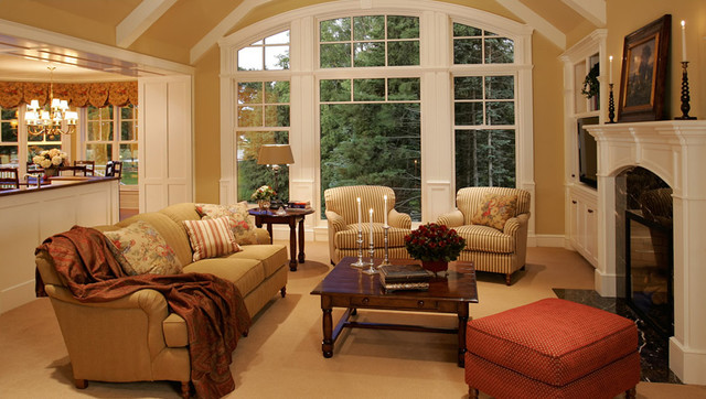 traditional living room designs new home construction cottage style traditional living 13368