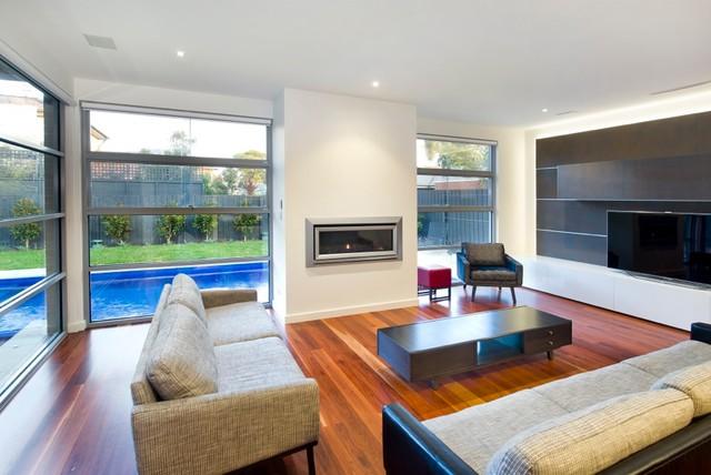 New House - Glen Iris contemporary-living-room