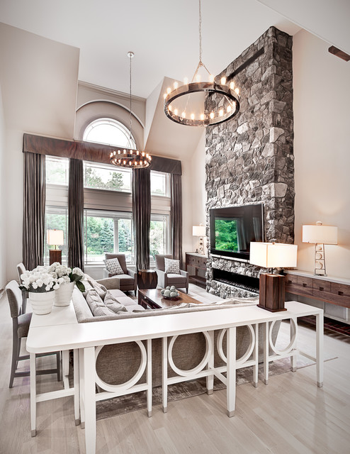 New Jersey Estate transitional-living-room