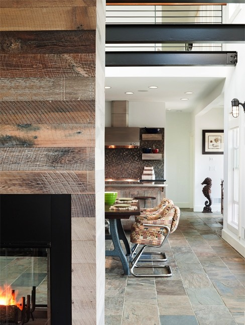 Reclaimed Wood Tv Wall Houzz