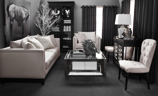 New neutral contemporary living room by z gallerie for Z gallerie living room inspiration