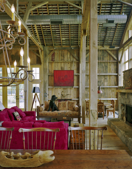 New River Bank Barn traditional living room