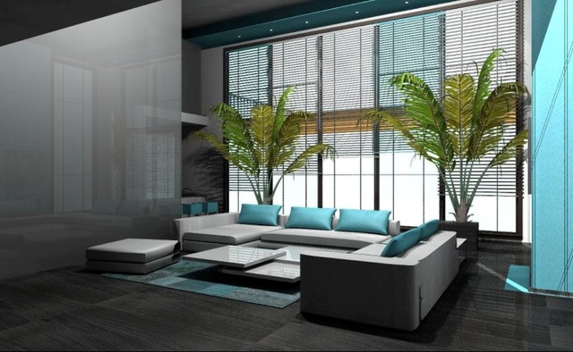 New Story Home - Miami Residence contemporary-living-room