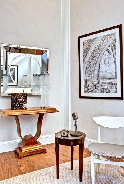 New Vintage Detroit Contemporary Living Room Detroit