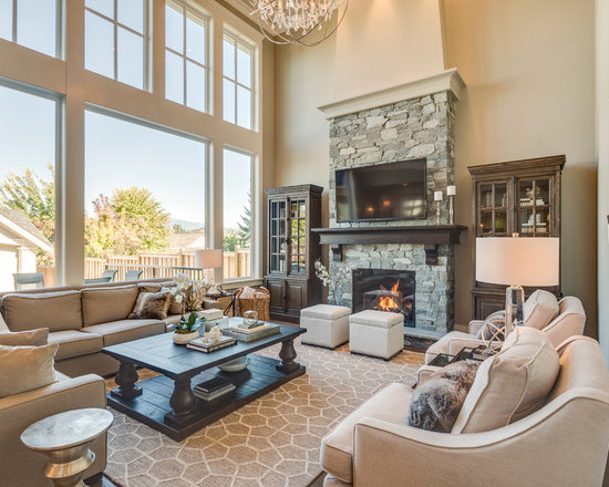 Mid sized traditional living room design ideas pictures for Medium sized living room