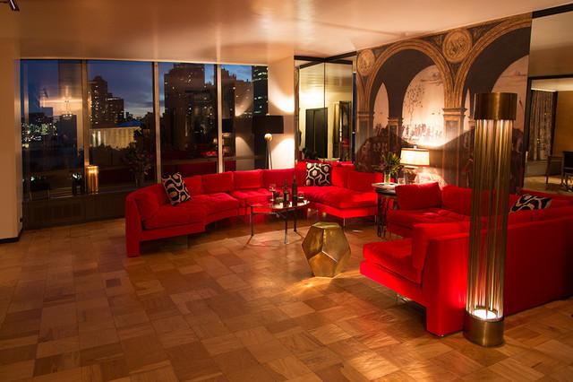 New York City Apartment Mad Men Era Midcentury Living Room New York By Victoria Klein