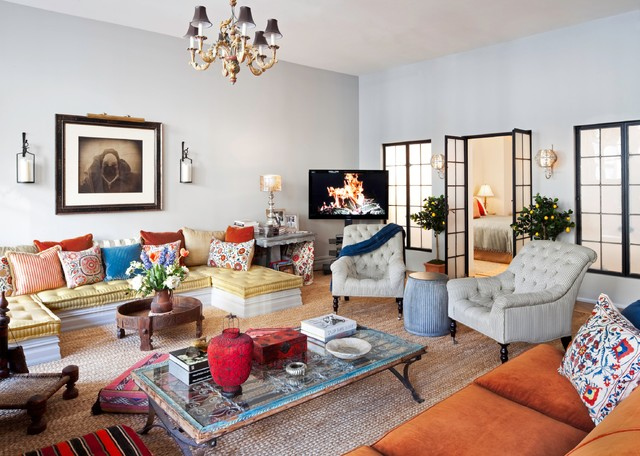 New York City Loft Eclectic Living Room New York