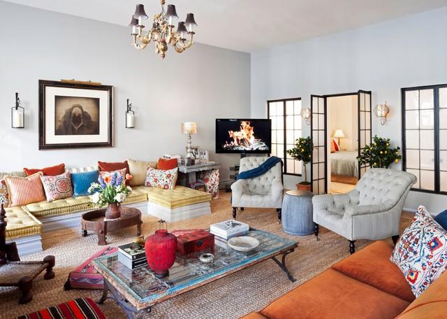 New York City Loft Eclectic Living Room New York By Deborah