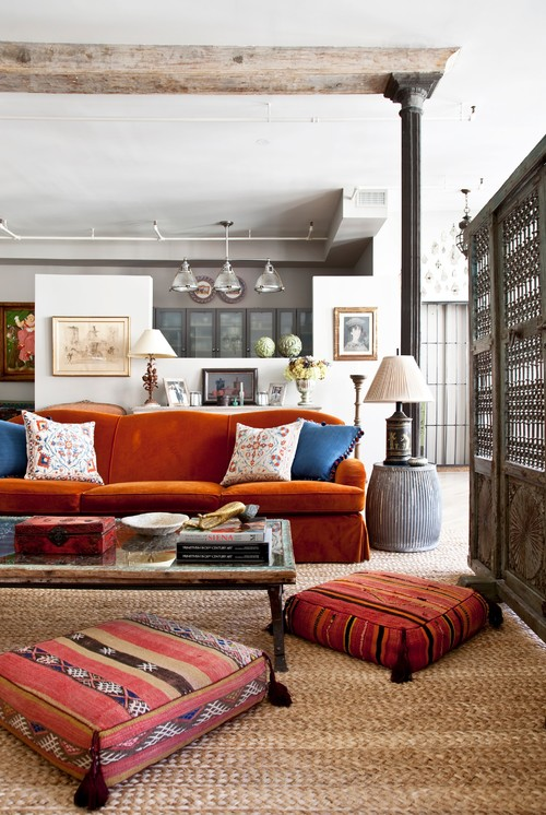 And In The Boho Living Room Pillows Arent Just For Decoration But Comfortable Seating