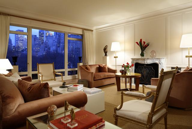 New york moderne living room new york by richard for W living room new york