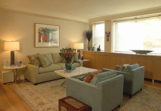 New York Pastel Pied-a-Terre contemporary-living-room
