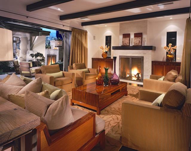 Newport Beach Custom Home 02 tropical-living-room