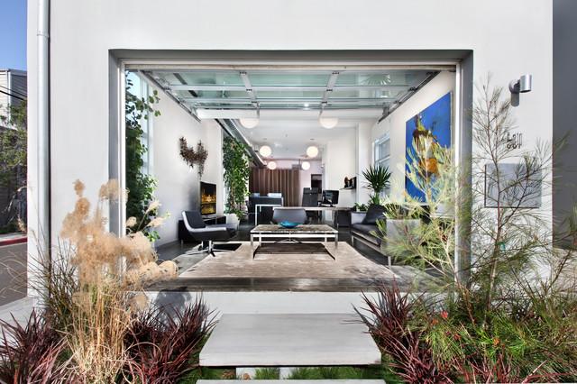 Newport Beach Loft modern-living-room
