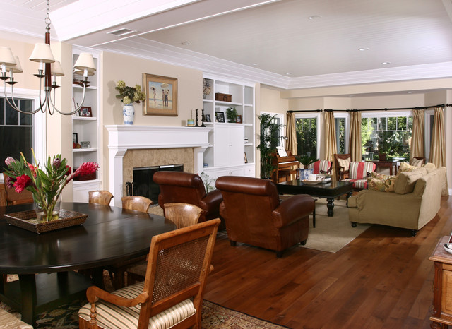 Newport Beach Plantation Style Traditional Living Room Orange County