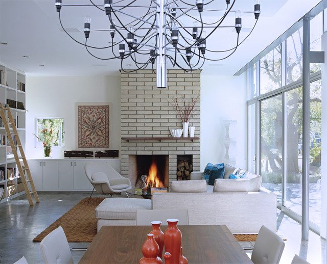 Modern Brick Fireplace Houzz