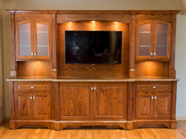 Newport China and Buffet Cabinet - Traditional - Living Room - new york - by Cadolino Custom ...
