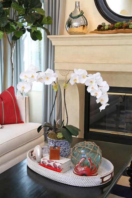 Newport Coast beach-style-living-room