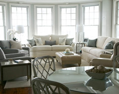 Newport transitional living room
