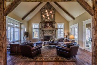 Newtown Home - Rustic - Living Room - new york - by Blansfield Builders, Inc.