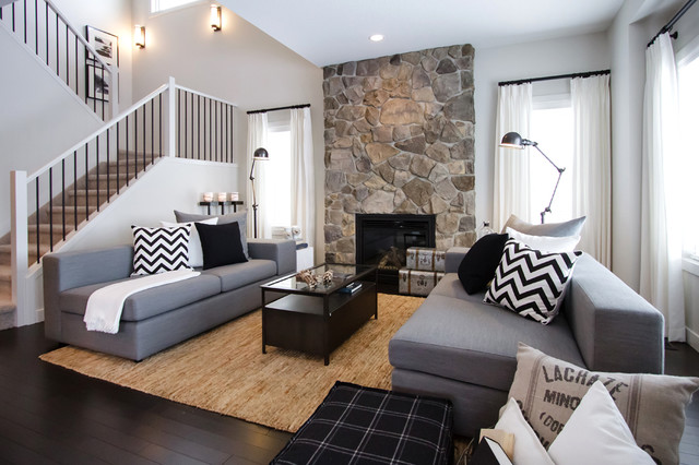 This Is An Example Of A Contemporary Living Room In Calgary
