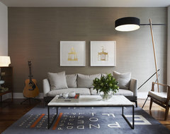Modern Eclectic Residence contemporary-living-room