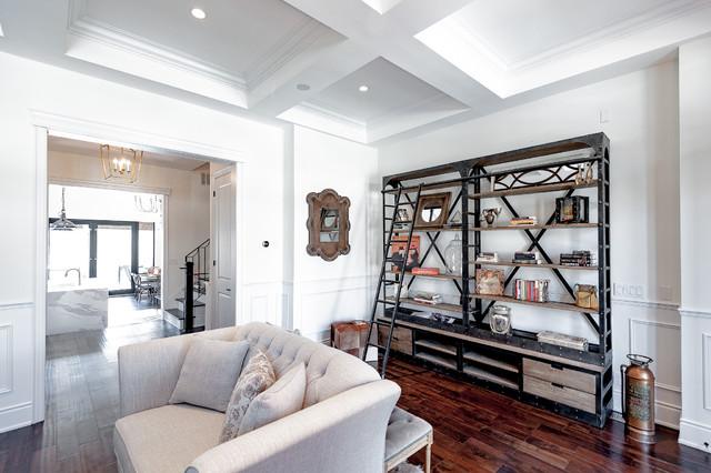 Transitional living room photo in Toronto