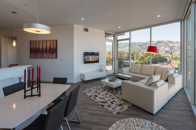 NMS@La Cienega West Hollywood Apartments Modern Living Room