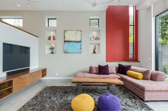 Noe Valey SF new construction contemporary-living-room