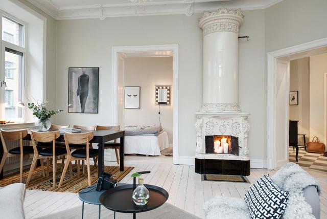 Inredning kakelugn jul : Nordenskiöldsgatan 5 - Scandinavian - Living Room - Gothenburg ...