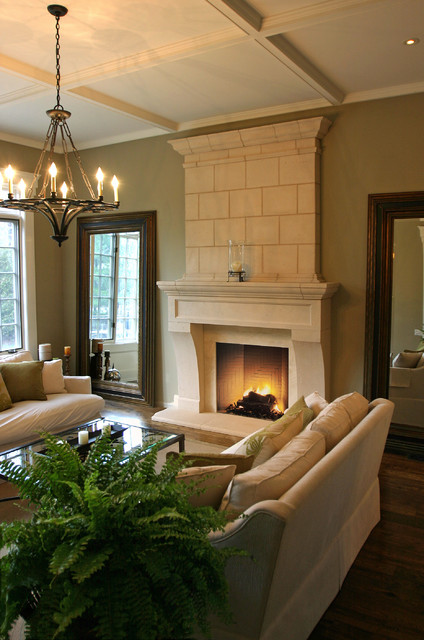 Normandy Mantel with Overmantel traditional-living-room