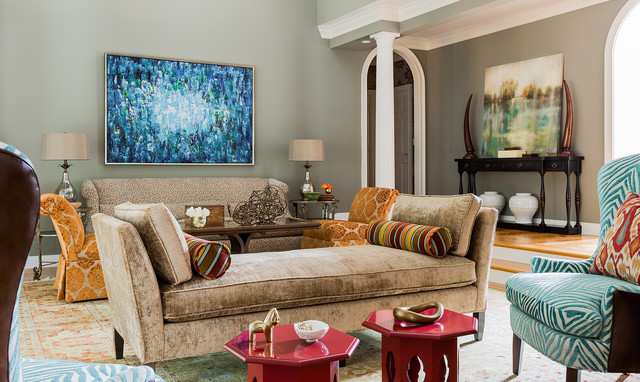 North Andover - Contemporary - Living Room - Boston - by Ana Donohue Interiors