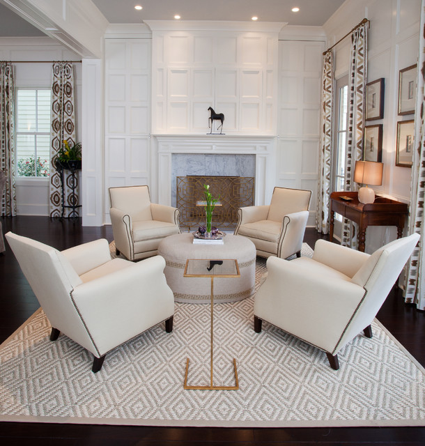 North Bay The Woodlands Tx Transitional Living Room Houston By Paul Davis Interiors