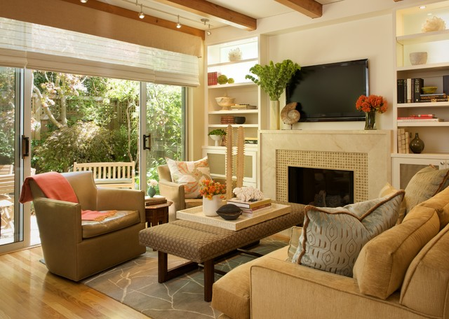North berkeley town house contemporary living room for Benjamin moore monterey white