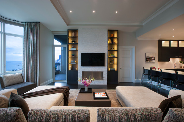 North Lakeview Contemporary Living Room Chicago By Michael Abrams Limited