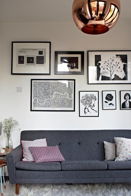 North london apartment midcentury living room london for Interior designers north london