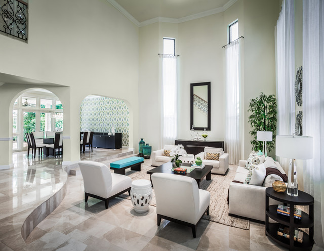 North Miami Beach House Contemporary Living Room