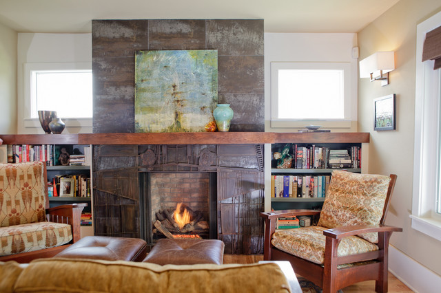 North Oakes Residence traditional-living-room