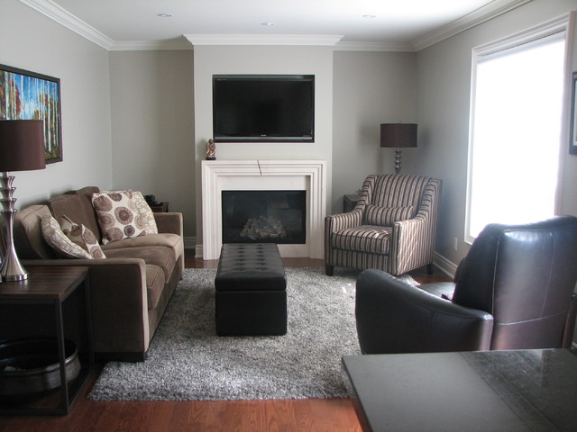 North Oakville Complete Reno Traditional Living Room Toronto By The E