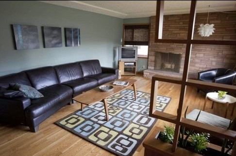 north portland mid century - living room modern-living-room