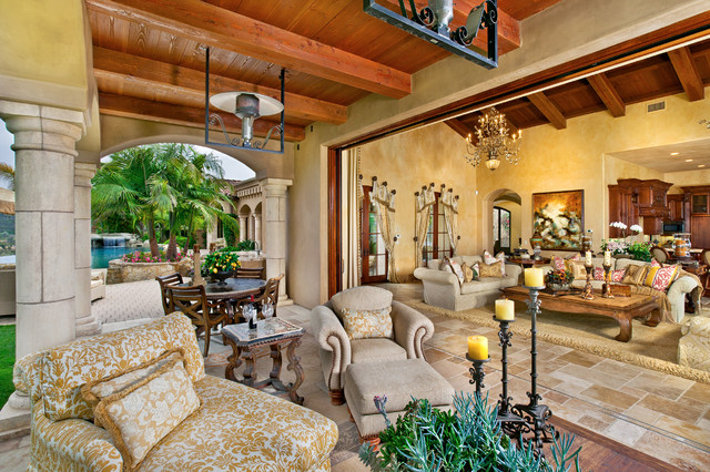 NORTH SAN DIEGO COUNTY LOGGIA   EXTERIOR DESIGN BY SUSAN SPATH Traditional  Living Room Part 61